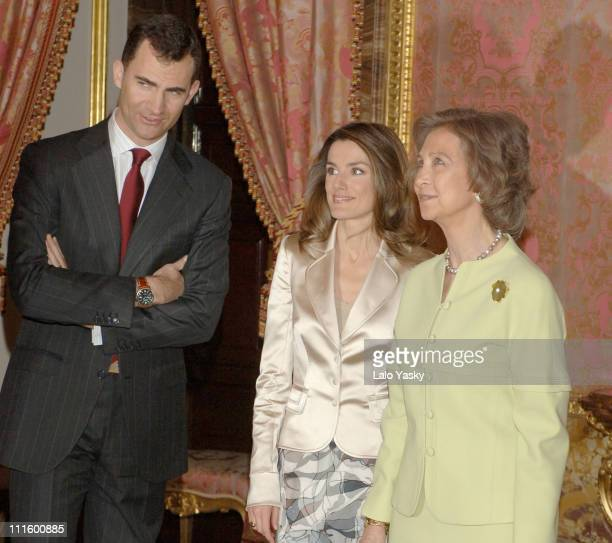Crown Prince Felipe Crown Princess Letizia and Queen Sofia