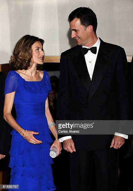 Crown Prince Felipe of Spain and Princess Letizia of Spain attend Mingote Awards Gala Dinner on June 19 2008 at the ABC building in Madrid Spain