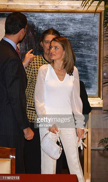 Crown Prince Felipe Princess Letizia and Irene of Greece