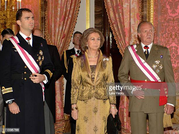 Crown Prince Felipe Queen Sofia and King Juan Carlos