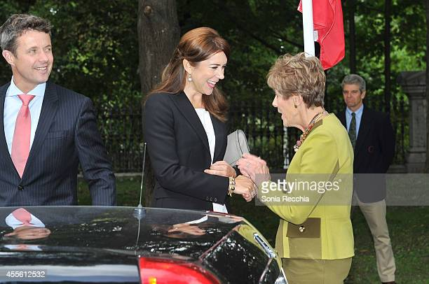 Crown Prince Frederik And Crown Princess Mary Of Denmark and Mrs Sharon Johnston attend Official Visit To Canada Day 1 on September 17 2014 in Ottawa...