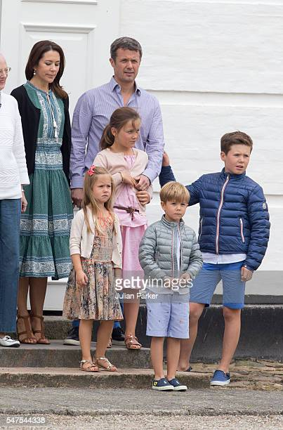 Crown Prince Frederik and Crown Princess Mary of Denmark and Prince Christian Princess Isabella Princess Josephine and Prince Vincent attend the...