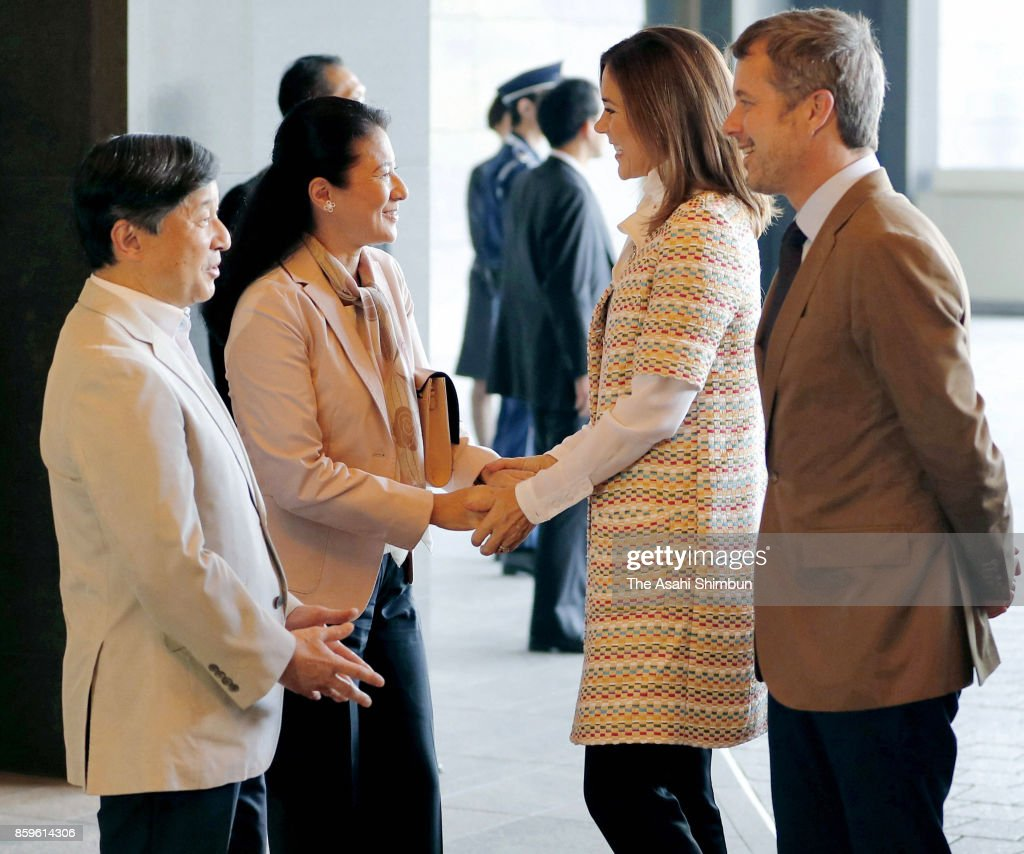 Crown Prince And Princess Of Denmark Visit Japan - Day 1
