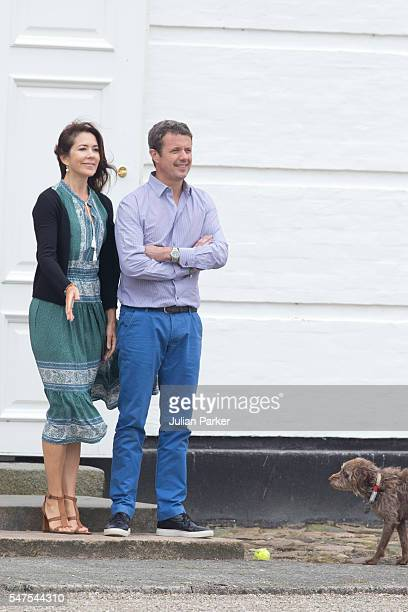 Crown Prince Frederik and Crown Princess Mary of Denmark attend the annual summer photo call for The Danish Royal Family at Grasten Castle on July 15...