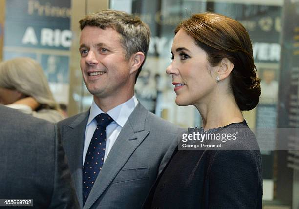 Crown Prince Frederik and Crown Princess Mary of Denmark attend official visit to Canada Day 2 at MARS Discovery District on September 18 2014 in...