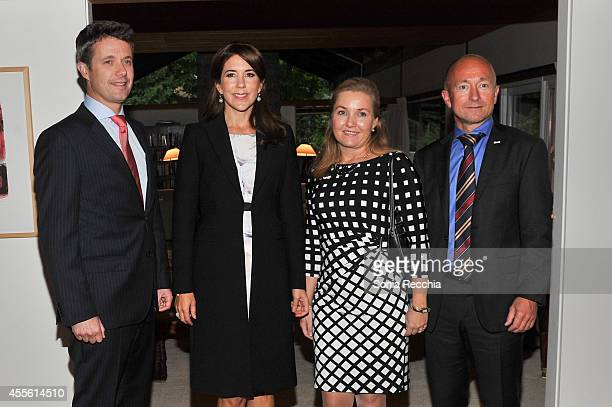 Crown Prince Frederik And Crown Princess Mary Of Denmark Mrs Karen Eva Abrahamsen and His Excellency Niels Boel Abrahamsen Ambassador of the Kingdom...