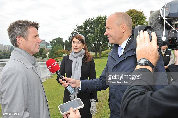 Crown Prince Frederik And Crown Princess Mary Of Denmark Official Visit To Canada Day 1 on September 17 2014 in Ottawa Canada