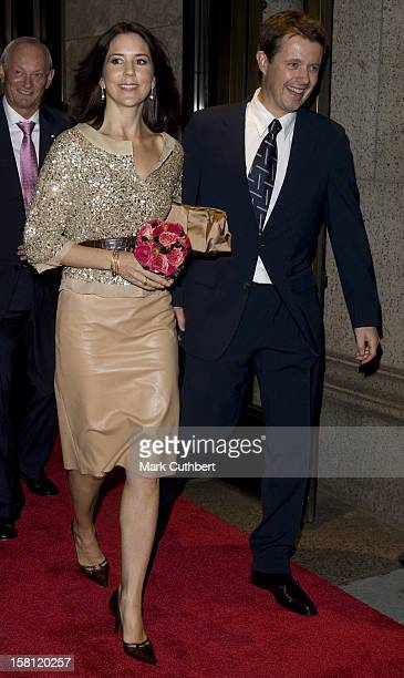 Crown Prince Frederik And Crown Princess Mary Of Denmark On A Four Day Visit To New YorkAttend A Champagne Reception At Takashimmaya Store On Fifth...