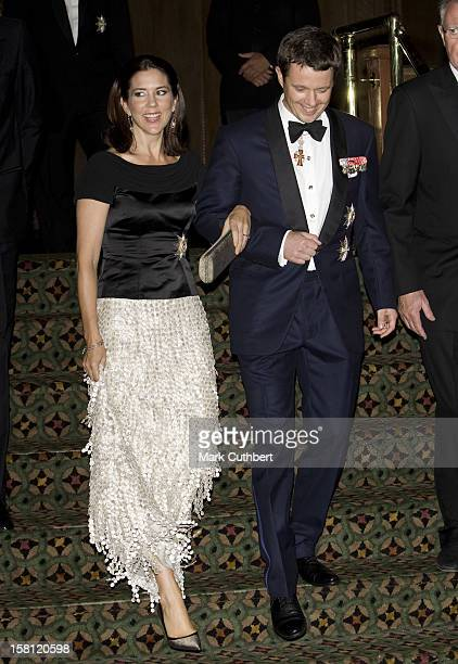 Crown Prince Frederik And Crown Princess Mary Of Denmark On A Four Day Visit To New YorkAttend A Gala Dinner At Cipriani