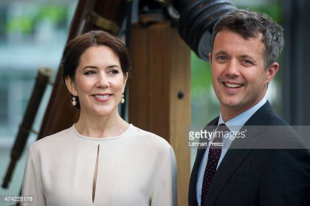 Crown Prince Frederik and Crown Princess Mary Of Denmark pose during their visit to Germany on May 21 2015 in Munich Germany