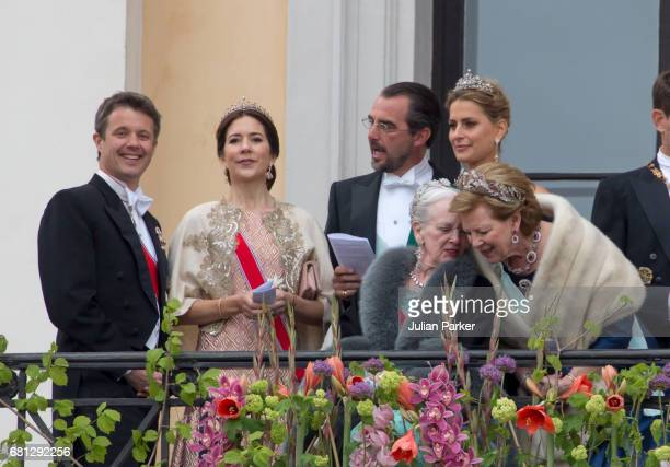 Crown Prince Frederik and Crown Princess Mary of Denmark Prince Nikolaos and Princess Tatiana of Greece and Queen Margrethe of Denmark and Queen Anne...
