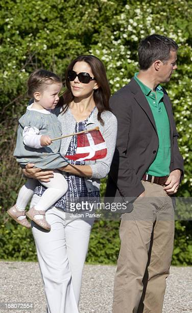 Crown Prince Frederik And Crown Princess Mary Of Denmark With Princess Isabella On The Morning Of Prince Henriks 75Th Birthday