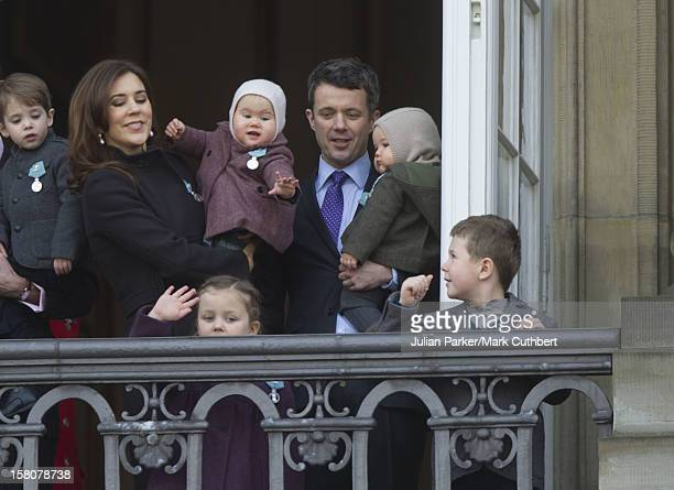 ** ** Crown Prince Frederik And Crown Princess Mary Of Denmark With Prince Vincent And Princess Josephine And Princess IsabellaPrince Christian...