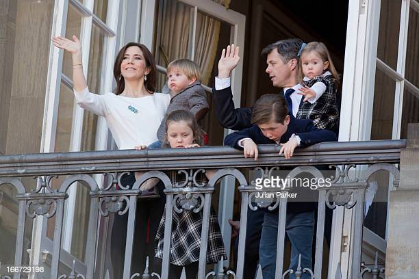 Crown Prince Frederik and Crown Princess Mary of Denmark with their children Prince Vincent Princess JosephinePrincess Isabella and Prince Christian...