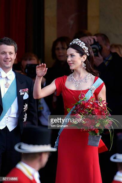 Crown Prince Frederik And His Fiancee Mary Donaldson Arriving For A Gala Performance At The Royal Theatre In Copenhagen To Celebrate Their...