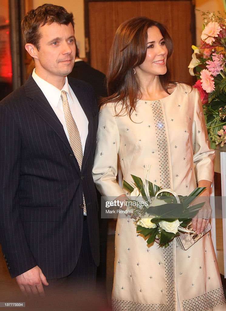 Crown Prince Frederik and Princess Mary of Denmark attend a concert for Danish EU Presidency celebration at Flagey on January 26, 2012 in Brussel, Belgium.