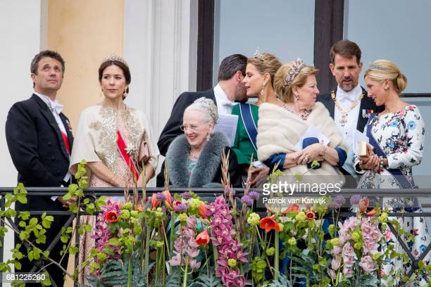 Crown Prince Frederik Crown Princess Mary and Queen Margrethe of Denmark Prince Nikolaos and Princess Tatiana Queen Annemarie Crown Prince Pavlos and...