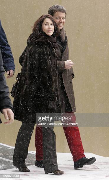 Crown Prince Frederik Crown Princess Mary Of Denmark Arrive At Oslo Airport For King Harald Of Norway'S 70Th Birthday Celebrations