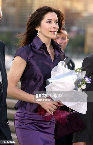 Crown Prince Frederik Crown Princess Mary Of Denmark Attend A Reception For The Danish Community At The Sydney Opera House During Their 2Week Visit...