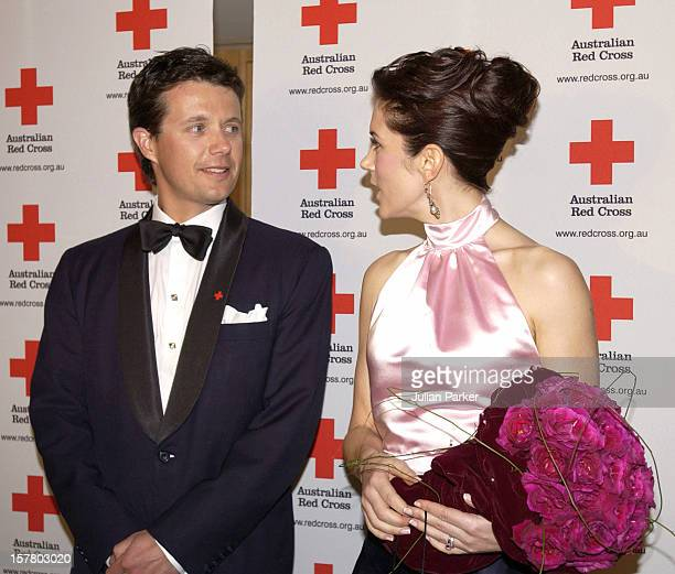 Crown Prince Frederik Crown Princess Mary Of Denmark Attend A Red Cross 90Th Anniversary Gala Event At The Westin Hotel In Sydney During Their 2Week...