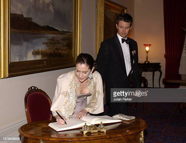Crown Prince Frederik Crown Princess Mary Of Denmark Attend An Official Dinner At Government House In Tasmania During Their 2Week Visit To Australia