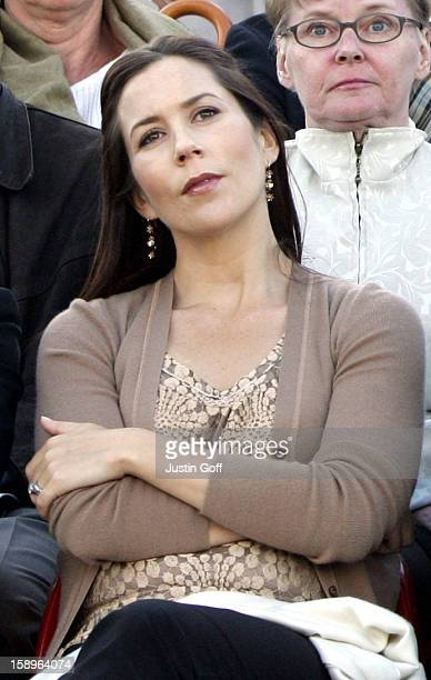 Crown Prince Frederik Crown Princess Mary Of Denmark Attend The World Premiere Of Hans Christian Andersen'S 'The Little Mermaid' At The Black Diamond...