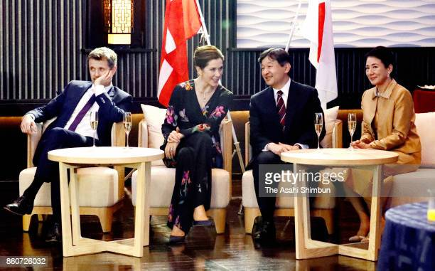 Crown Prince Frederik Crown Princess Mary of Denmark Japanese Crown Prince Naruhito and Crown Princess Masako attend the ceremony marking the 150th...