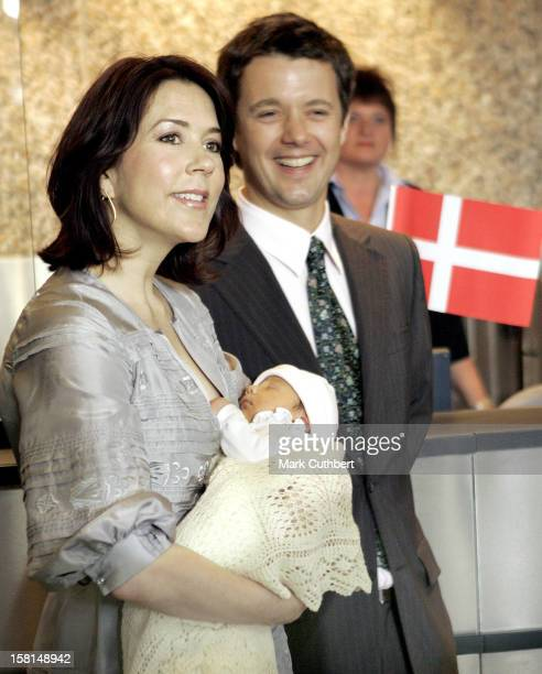 Crown Prince Frederik Crown Princess Mary Of Denmark Leave The Rigshospital In Copenhagen With Their NewBorn Baby Daughter