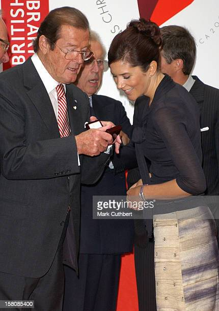 Crown Prince Frederik Crown Princess Mary Of Denmark Roger Moore Attend The Launch Of Hans Christian Anderson 2005 At The British Library In London