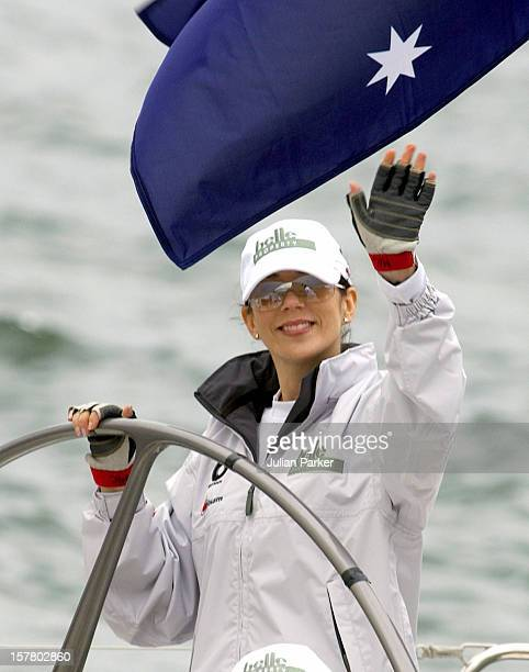 Crown Prince Frederik Crown Princess Mary Of Denmark Take Part In A Sailing Match On Sydney Harbour During Their 2Week Visit To Australia