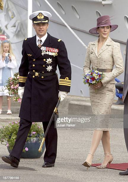 Crown Prince Frederik Crown Princess Mary Of Denmark Visit Aalborg During A 4Day Trip On The Royal Yacht Danneborg