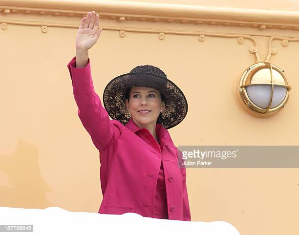 Crown Prince Frederik Crown Princess Mary Of Denmark Visit Aarhus During A 4Day Trip On The Royal Yacht Dannebrog