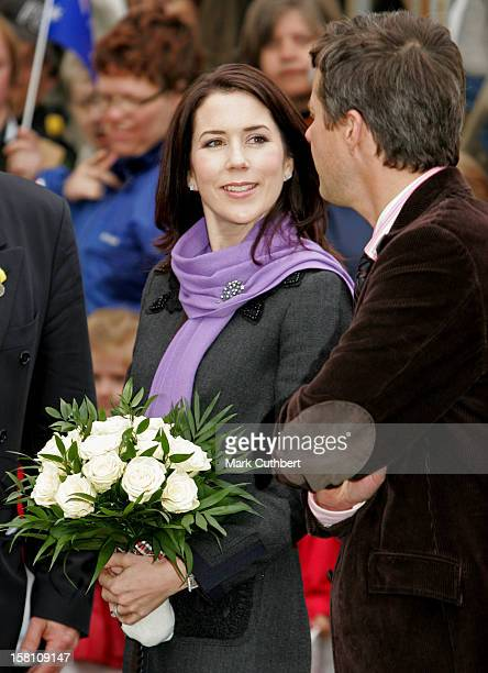 Crown Prince Frederik Crown Princess Mary Of Denmark Visit The Danish Tramway Museum Skjoldenaesholm For The Presentation And Inaugural Ride Of The...