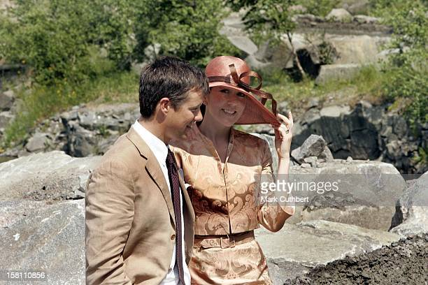 Crown Prince Frederik Crown Princess Mary Of Denmark Visit The Island Of BornholmVisit To A Quarry In Ronne