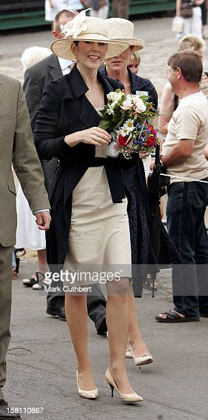 Crown Prince Frederik Crown Princess Mary Of Denmark Visit The Island Of BornholmVisit To Gudhjem