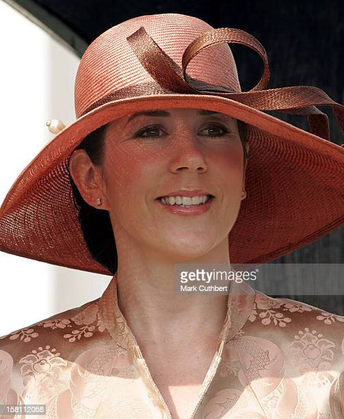 Crown Prince Frederik Crown Princess Mary Of Denmark Visit The Island Of BornholmVisit To The Nyker Round Church In Ronne