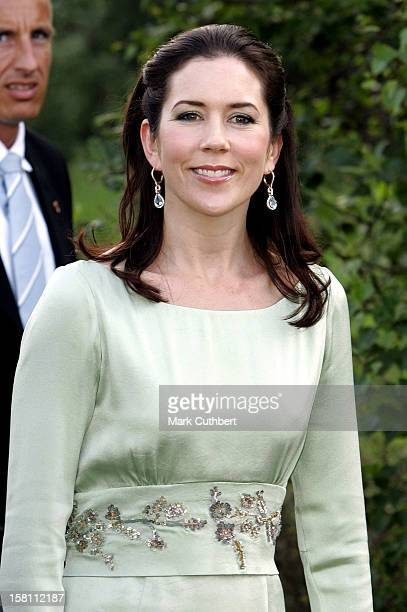 Crown Prince Frederik Crown Princess Mary Of Denmark Visit The Island Of BornholmGala At The Opalsoen Opal Lake