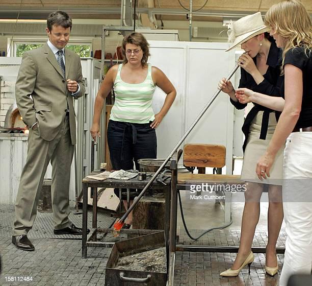 Crown Prince Frederik Crown Princess Mary Of Denmark Visit The Island Of BornholmVisit To The Glass Ceramic/Pottery School In Stenbrudsvej