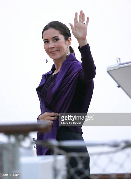 Crown Prince Frederik Crown Princess Mary Of Denmark Visit The Island Of BornholmDeparture Onboard Royal Yacht Dannebrog