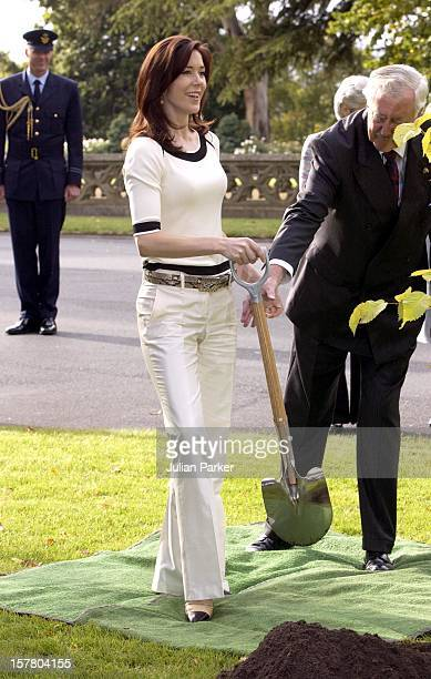 Crown Prince Frederik Crown Princess Mary Of Denmark Visit AustraliaPlanting Two Trees At Government House Hobart