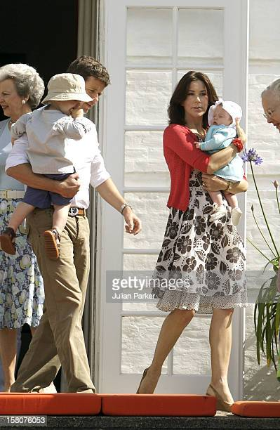 Crown Prince Frederik Crown Princess Mary Prince Christian Princess Isabella Attend A Photocall At Grasten Palace Denmark