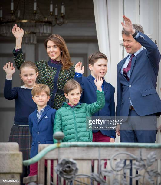 Crown Prince Frederik Crown Princess Mary Prince Christian Princess Isabella Prince Vincent and Prince Henrik of Denmark attend the 77th birthday...