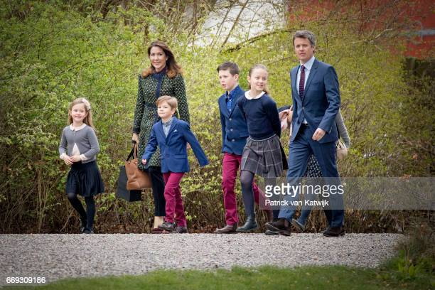 Crown Prince Frederik Crown Princess Mary Prince Christian Princess Isabella Prince Vincent and Princess Josephine of Denmark attend the 77th...