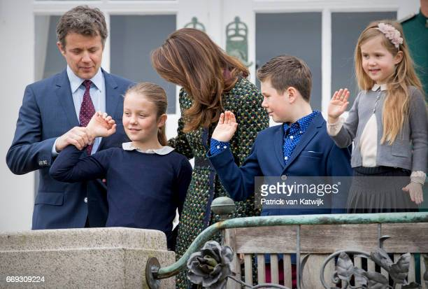 Crown Prince Frederik Crown Princess Mary Prince Christian Princess Isabella Princess Josephine and Prince Vincent of Denmark attend the 77th...