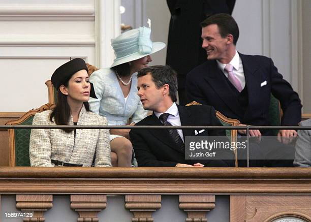 Crown Prince Frederik Crown Princess Mary Prince Joachim Princess Alexandra Of Denmark Attend The Opening Of The Danish Parliament In Copenhagen