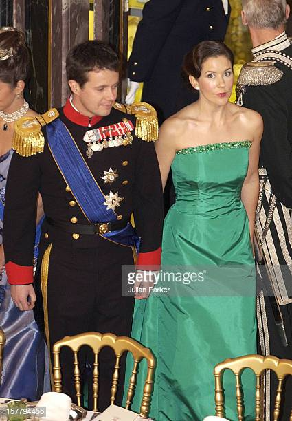 Crown Prince Frederik Mary Donaldson Attend A Banquet At Fredensborg Palace During The State Visit To Denmark Of Grand Duke Henri Grand Duchess Maria...