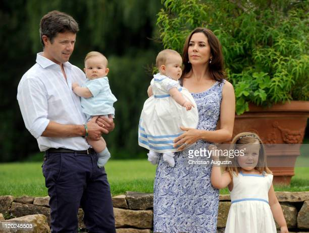 Crown Prince Frederik of Denmark and Crown Princess Mary of Denmark Princess Isabella and the twins Vincent Frederik Minik Alexander and Josephine...