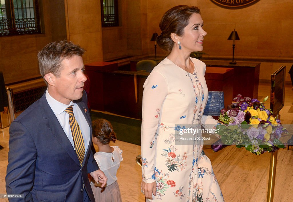 Crown Prince Frederik of Denmark and Crown Princess Mary of Denmark visit the U.S. Chamber of Commerce on September 28, 2016 in Washington, DC.