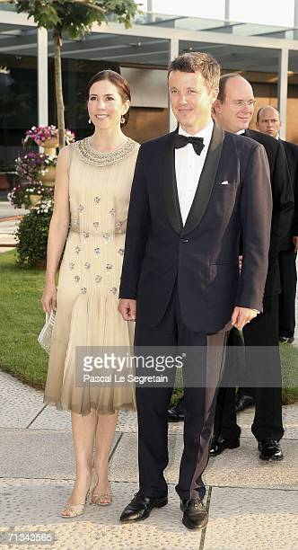 Crown Prince Frederik of Denmark and Crown Princess Mary of Denmark arrives at the Grand Theater to attend a special performance on June 30 2006 in...
