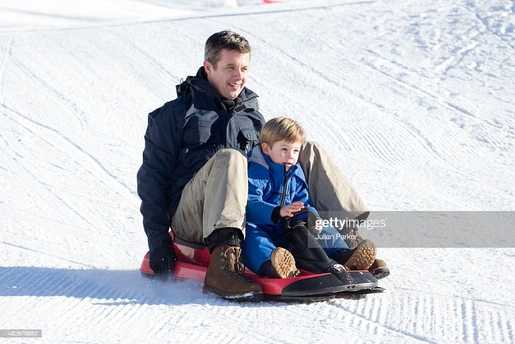 Crown <a gi-track='captionPersonalityLinkClicked' href=/galleries/search?phrase=Prince+Frederik+of+Denmark&family=editorial&specificpeople=171286 ng-click='$event.stopPropagation()'>Prince Frederik of Denmark</a> and <a gi-track='captionPersonalityLinkClicked' href=/galleries/search?phrase=Prince+Vincent+of+Denmark&family=editorial&specificpeople=8900376 ng-click='$event.stopPropagation()'>Prince Vincent of Denmark</a> attend a Photocall during their annual Ski holiday, on February 8, 2015 in Verbier, Switzerland.